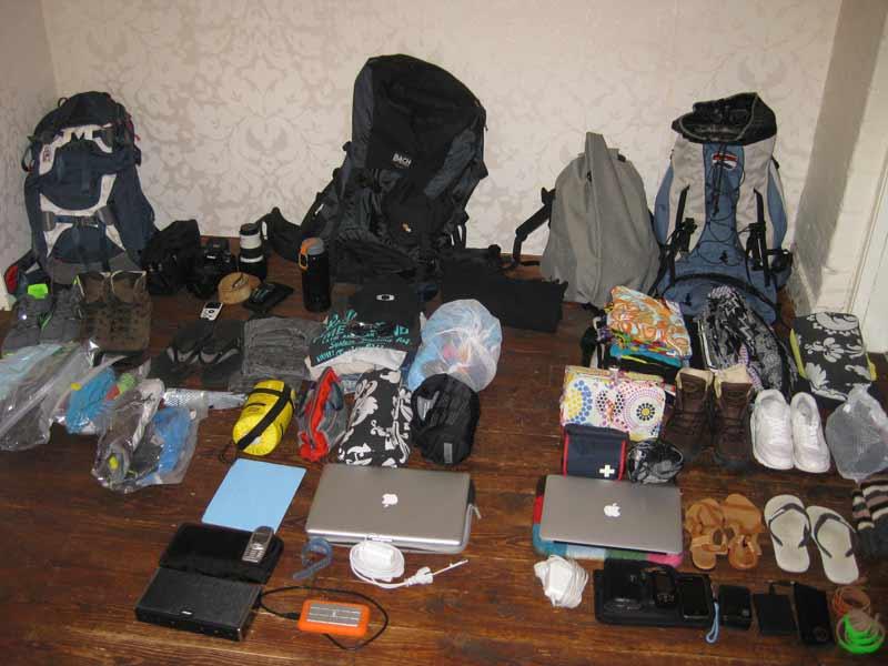 Spullen van een digitale nomade