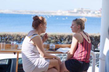 Diana aan het werk op Tenerife